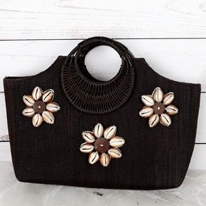 Handbags - Woven Fine Straw Beach Handbag